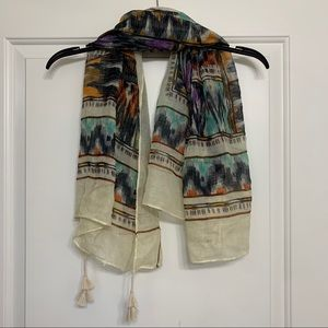 Multi color small blanket scarf
